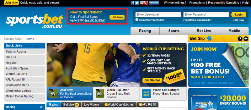 Sportsbet Website