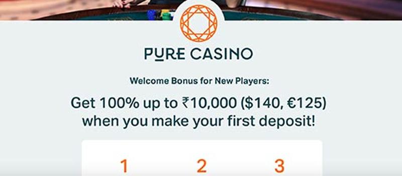 pure casino bonus